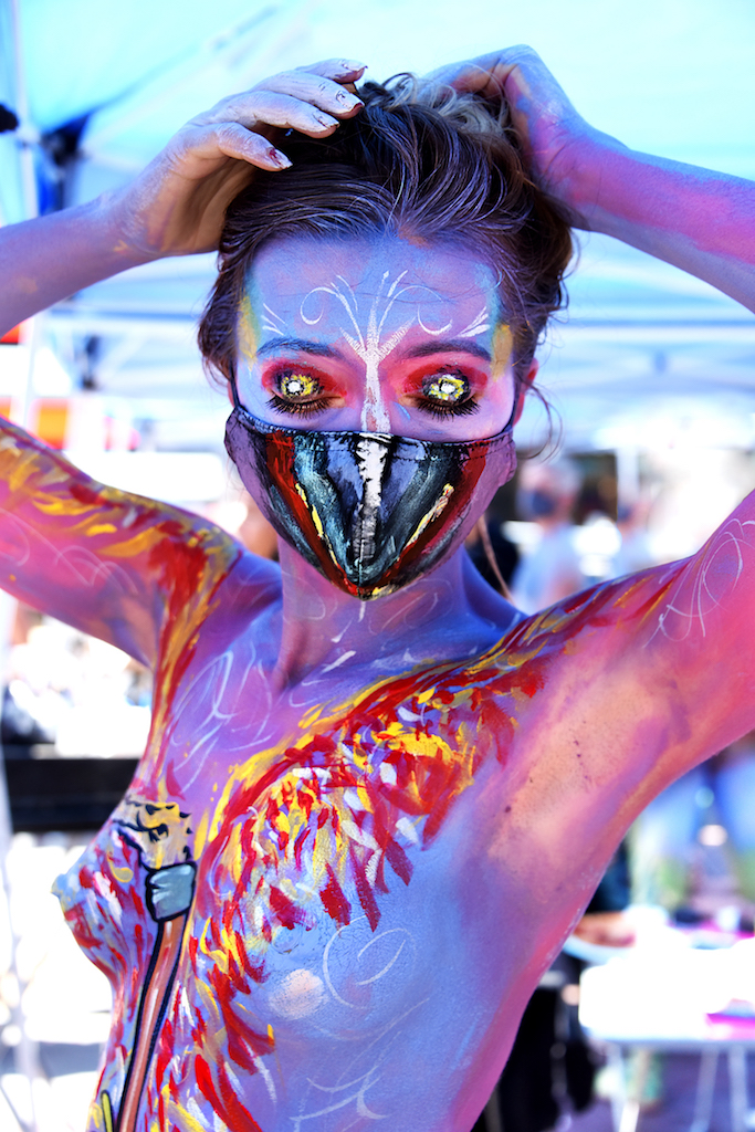 Adorned Not Porn Body Painting Brings Nudity Back To Times Square The Village Sun